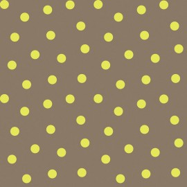 Tissu coton Bright Now - Do the Polka in Yellow x 10 cm