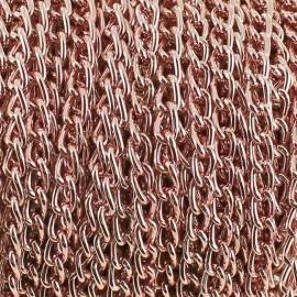 Chaine alu 3 mm rose x 50cm