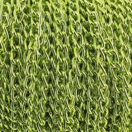 Chaine alu 3 mm vert clair x 50cm