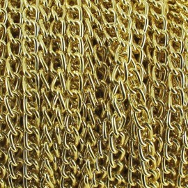 3 mm Aluminium chain - gold x 50 cm