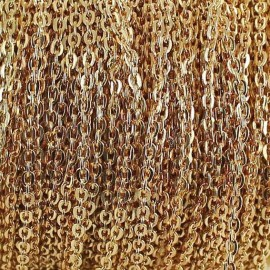 Chaine acier 2 mm or x 50cm