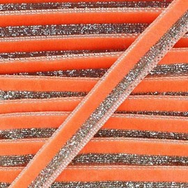 Lurex braid trimming, disco 10mm - orange
