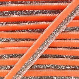 Lurex braid trimming, disco 10mm - orange