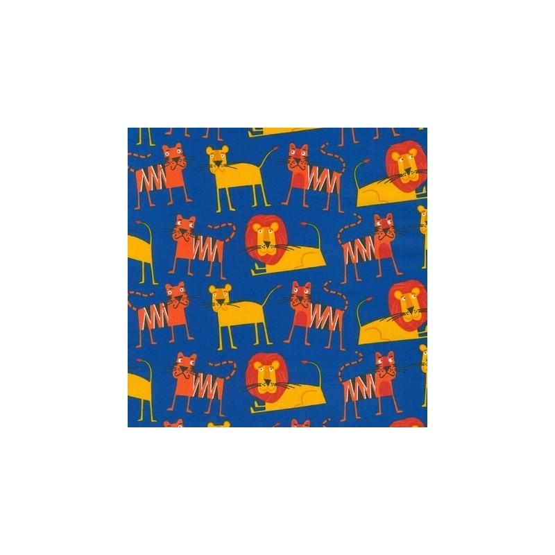 Tissus pas cher 100 coton tissu jungle party a bright for Bright childrens fabric