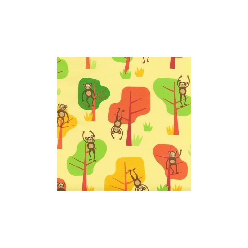 Tissus pas cher 100 coton tissu jungle party d bright for Bright childrens fabric