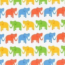 Tissu Jungle Party E - Bright x 10cm