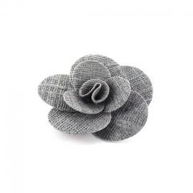 ♥ Broche Fleur Anémone gris ♥