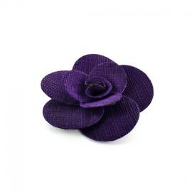 Broche Fleur Anémone rose gris