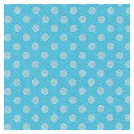 Tissu Spot On Pearl - Bleu ciel x 10cm