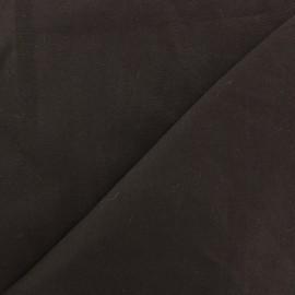 Tissu Gabardine Lycra satiné Marron Foncé x 10cm