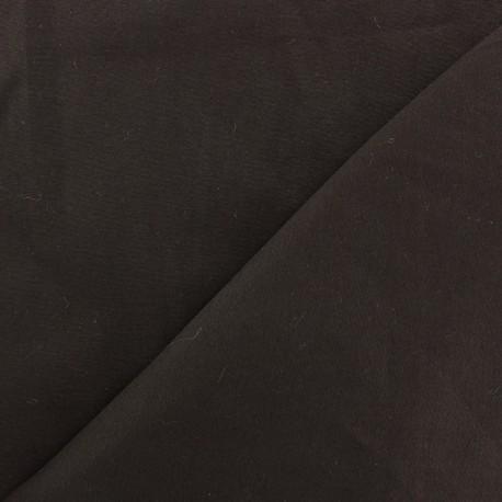 Satiny Lycra Gabardine Fabric - Dark Brown x 10cm