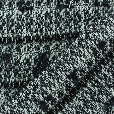 Tissu Maille tricot Thanel Chiné x 10cm