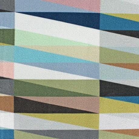 Short velvet fabric - Joyful Multi Faded rectangle x 10cm