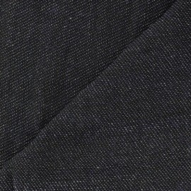 Toren B light wool fabric - night blue aspect Chambray x 10cm