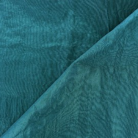 Tissu taffetas uni vert pin x 10cm