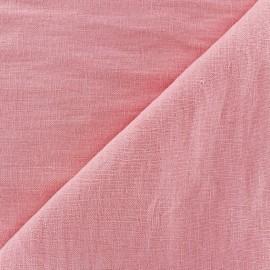 Tissu lin rose dragée x 10cm