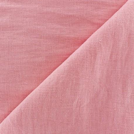 Linen Fabric - Dragée Pink x 10cm