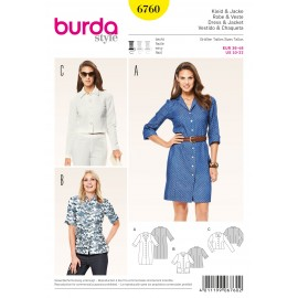 Dress & Jacket Sewing Pattern Burda n°6760