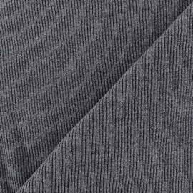 Knitted Jersey 1/2 tubular edging fabric x 10 cm - grey