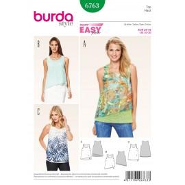 Patron Top Burda n°6763