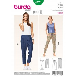 Patron Femme Pantalon Burda n°6770