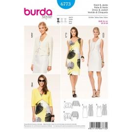 Patron Femme Robe & Veste Burda n°6773