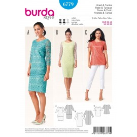 Patron Robe & Tunique Burda n°6779