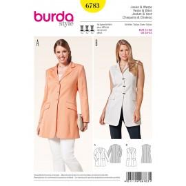 Patron Veste Burda n°6783