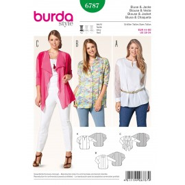 Patron Blouse & Veste Burda n°6787