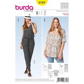 Patron Coordonnés Burda n°6789