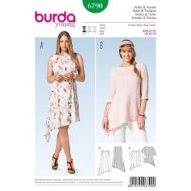 Patron Robe & Tunique Burda n°6790