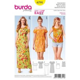 Patron Robe & T-shirt Burda n°6791