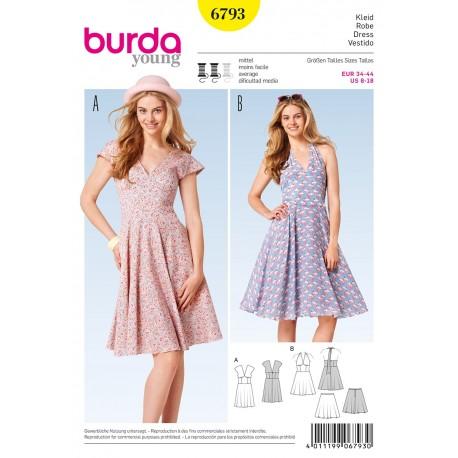 Patron Robe  Burda n°6793