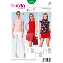 Patron T-Shirt Burda n°6795