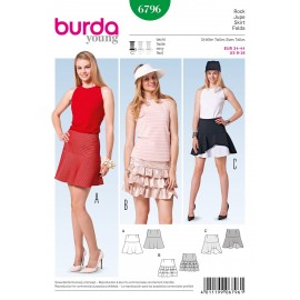 Patron Jupe Burda n°6796