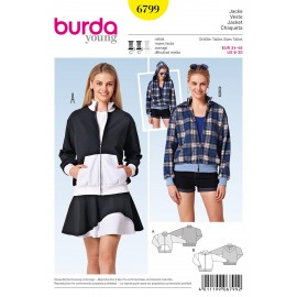 Jacket Sewing Pattern Burda n°6799