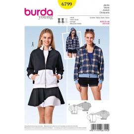Patron Veste Burda n°6799