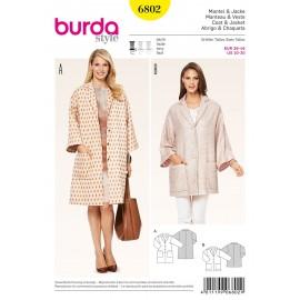 Coat & jacket Sewing Pattern Burda n°6802