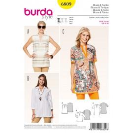 Patron Blouse & Tunique Burda n°6809