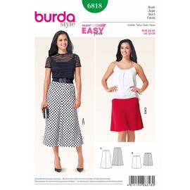 Patron Jupe Burda n°6818