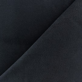 ♥ Coupon tissu 180 cm X 140 cm ♥ Short elastane velvet fabric - navy blue
