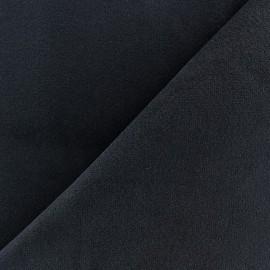 Tissu velours ras élasthanne bleu marine x 10cm