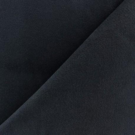 Tissu velours ras lasthanne bleu marine x 10cm ma petite mercerie - Tissu velours bleu canard ...