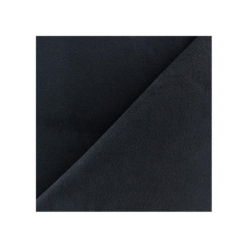 tissu velours ras lasthanne bleu marine x 10cm ma petite mercerie. Black Bedroom Furniture Sets. Home Design Ideas