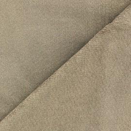 Short elastane velvet fabric - havana x10cm