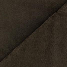 ♥ Coupon 300 cm X 148 cm ♥ velours ras élasthanne marron  elastane velvet fabric - brown