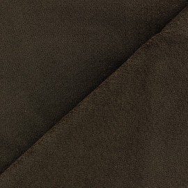 Short elastane velvet fabric - brown x10cm