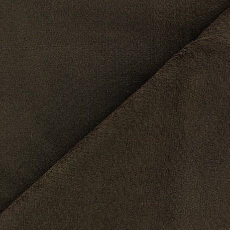 Short elastane velvet fabric - brown x10cm