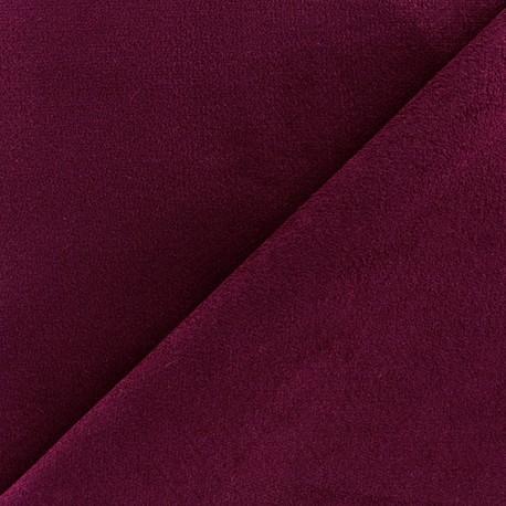 Short elastane velvet fabric - garnet x10cm