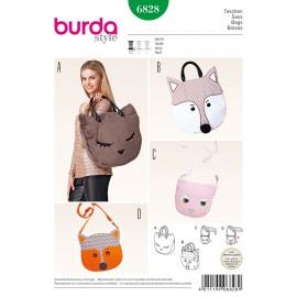 Patron Sacs Burda n°6828